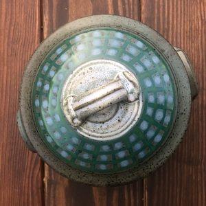 Ceramic Serving Dish With Lid EUC Artisan Made
